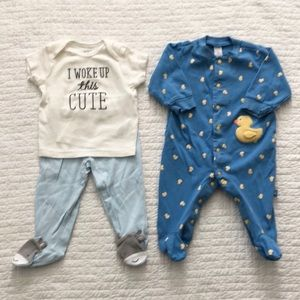 ⭐️2/12⭐️ Carter's Baby Outfit & Sleeper Set